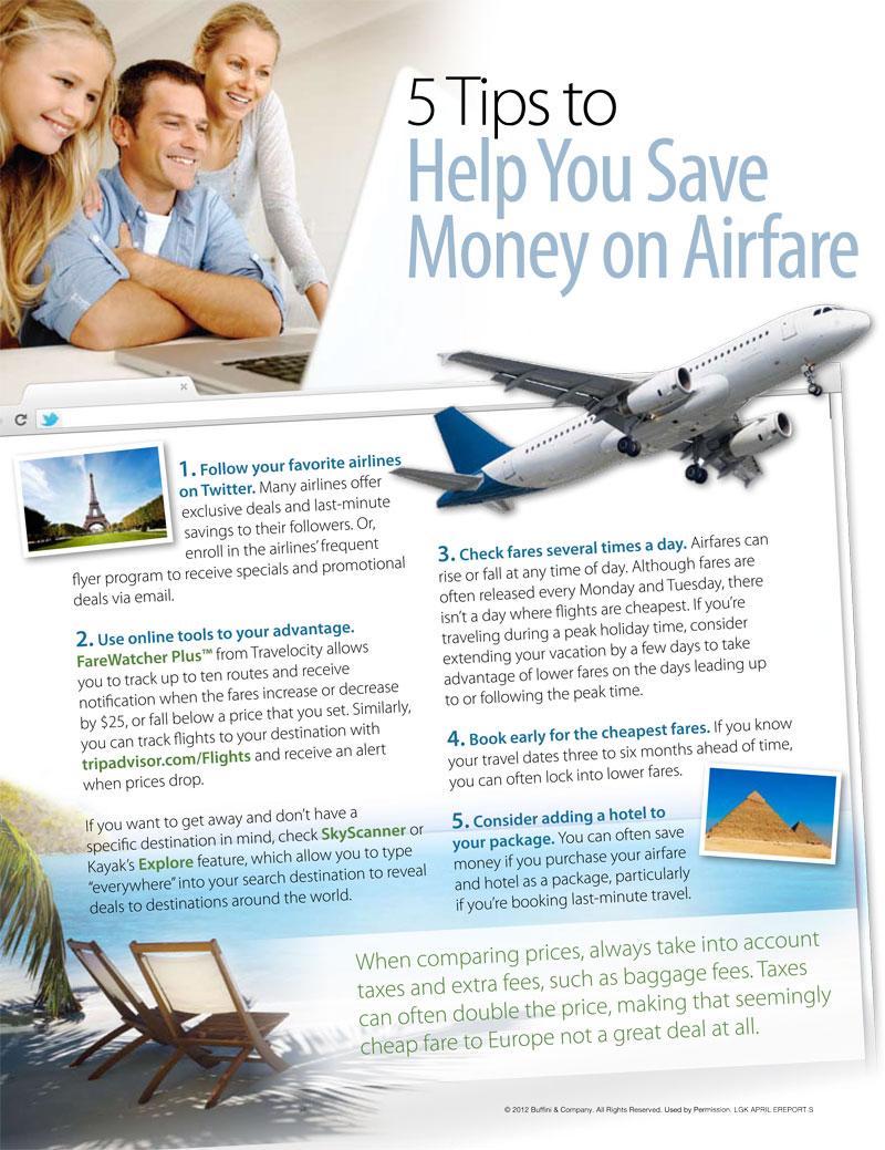 save money on air fare